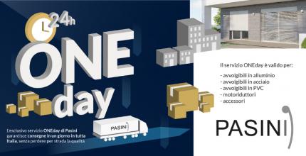 ONEday Pasini dicembre: regalati la consegna di avvolgibili, motoriduttori e accessori in un giorno